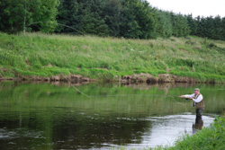 George Fishing at Kinnairdy, Aberdeenshire